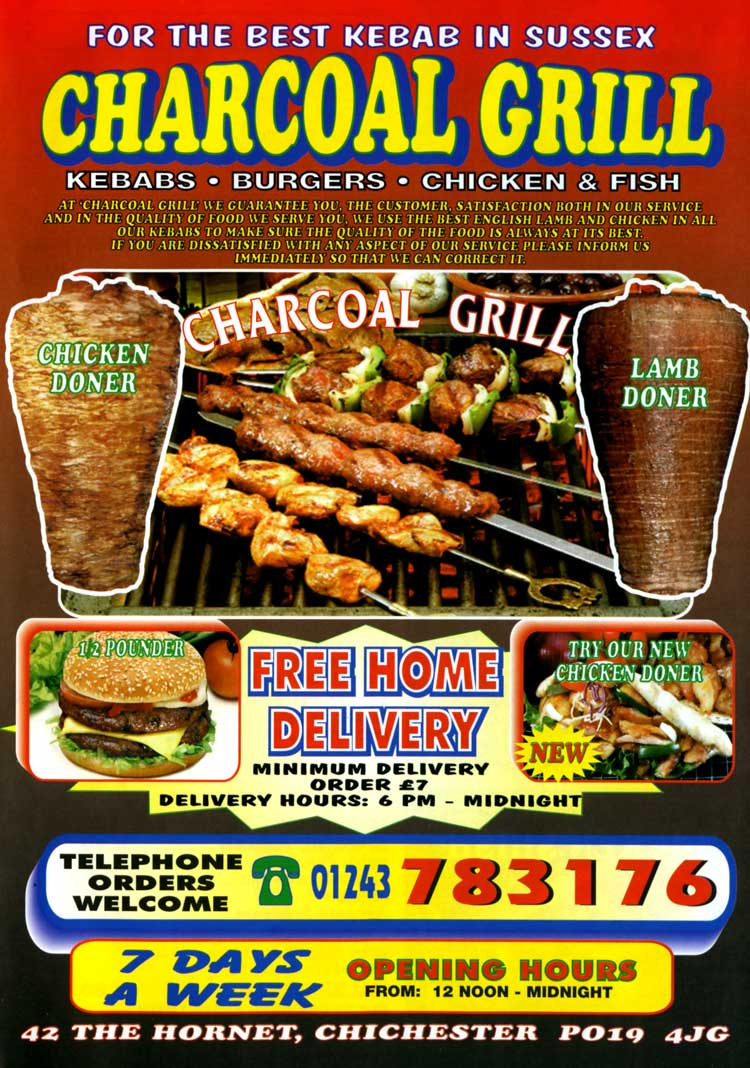 Charcoal grill chichester west sussex